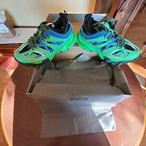 Balenciaga Tess S Gomma Sneaker Blue Green New Men's Size 10 With Box Real Photo