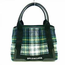 Balenciaga Tote Bag Navy Hippopotamus S 339933 Dark Green Black Yellow Pla 5383 Photo