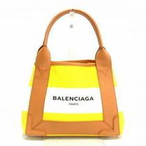Balenciaga Tote Bag Navy Hippopotamus Xs 390346 Yellow White Beige Border 5340 Photo