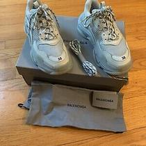 Balenciaga Triple S Sneakers in Pearl Grey Size 38 995 Authentic With Receipt Photo