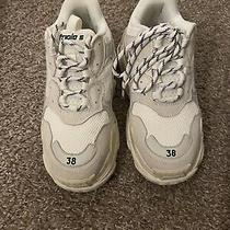 Balenciaga Triple S Women's Shoes Size 38(eur) White Sneakers Photo