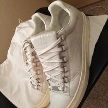 Balenciaga White Low Top Leather Sneakers Photo