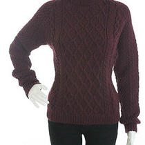 Balenciaga Wine Chunky Knit Turtleneck Sweater Sz 40 Photo