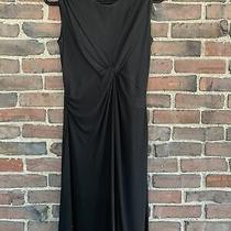 Balenciaga Women Black Sleeveless Knit Dress 40 Us 8 Italy Knot Detail Photo