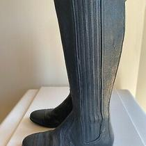 Balenciaga Womens  Leather Tall Pull on Flat Italy Made Riding Boots 36.5 Photo