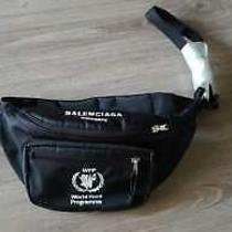 Balenciaga World Food Programme Double Pack Black Belt Bag Fanny Photo