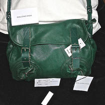 Balenciage Green Leather Handbag Photo