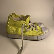 Balera Neon Yellow Sequin Sneakers Shoes Sz 12 Excellent Condition Photo