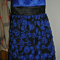 Ball Dress/ Prom Dress Blue/black Size 5 Photo