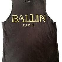 Ballin Paris Black Muscle T-Shirt Gold Foil Letters Xs Alex & Chloe Photo