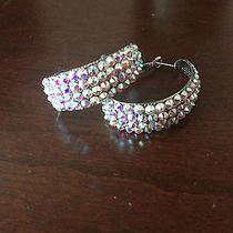 Ballroom Dance Swarovski Earrings - Ab Crystal Photo