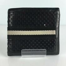 Bally 2-Fold Wallet Leather Black Ladies Coin Purse Photo