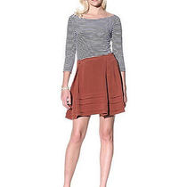 Bally 684 Tiered Silk Crepe Brick Red Spring/summer 2010 Mini Skirt 44/10 New Photo