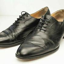 Bally 9 Black Oxfords Men's Dress Shoe Italy Photo