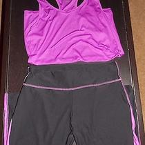 Bally Active Wear Purple and Black Pants With Purple Top Size Xl Photo