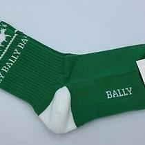 Bally Animals Green Cotton Socks Size Xl Made in Italy Photo
