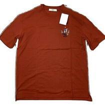 Bally Animals Red Short Sleeve Cotton T-Shirt Size Xxl Made in Italy Photo