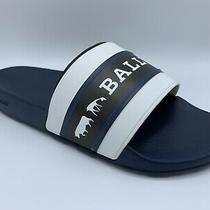 Bally Animals White Black and Blue Rubber Sandals Size Us 10 Made in Italy Photo