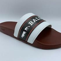 Bally Animals White Black and Red Rubber Sandals Size Us 8 Made in Italy Photo