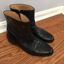 Bally Ankle Zip Boots Black Leather Sz 9.5 D Lexus Photo