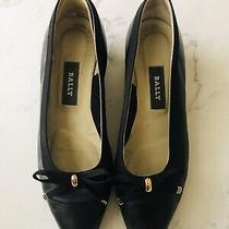 Bally Belle Leather Mini Wedge Flats Size 7 Narrow Womens Photo