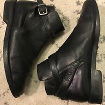 Bally Black Leather Ankle Boots Booties Womens Size 40.5 Black Euc B6 Photo