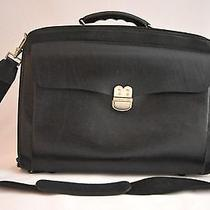Bally Black Leather Briefcase and Computer Photo