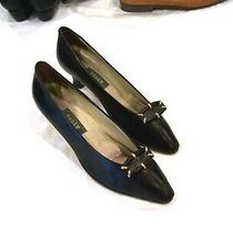 Bally Black Leather Heels/pumps/shoes Fern Sz. 8n Photo