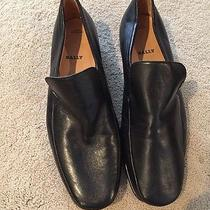 Bally Black Leather Loafer 12eee Leather Soles Photo