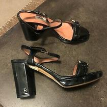 Bally Black Patent Leather Block Heels Brand New Size 38 Rrp 2460 Photo