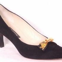 Bally Black Suede Italian Ladies Shoes Pumps Heels Sz 7 1/2 M Photo