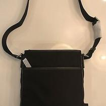 Bally Black Tuston Leather and Nylon Messenger Bag Photo