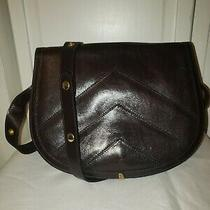 Bally Brown Canvas B Monogram W/ Leather Trim Vintage Shoulder Small Bag Photo