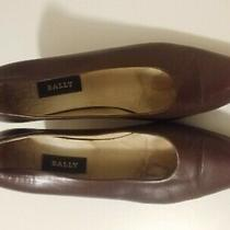 Bally Brown Classic Vintage Pumps 2.5 Inches 8.5m Euc Leather Photo