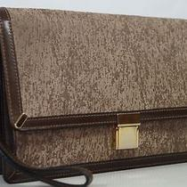 Bally Brown Leather Handbag Clutch Wrist Bag  Photo