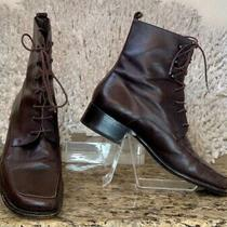 Bally Brown Leather Lace Up Boot Size 35.5 Photo