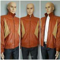 Bally Brown Nappa Leather Bomber Jacket  Photo
