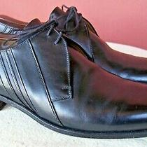 Bally Capira Black Leather Round Toe Oxford Blucher Shoes  Eu 10 / Us 11d  Photo