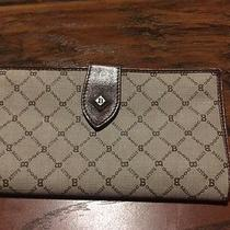 Bally Clutch Wallet Purse Monogram Leather Authentic Vintage Kiss Lock Photo