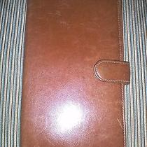 Bally Cognac Brown Leather Travel Wallet Photo