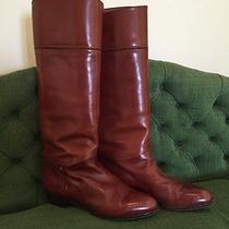 Bally Cognac Tan Brown Boots Size 8 Photo
