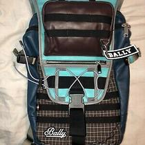 Bally Designer Edelweiss Mens Leather Backpack Photo
