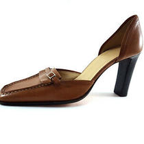 Bally Fitili Brown Leather High Heels Pumps Womens Shoes Size eu38.5/us8 Photo
