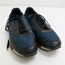 Bally Gavino Men's Shoes  Navy Blue Calf With Red  Size 9 Us 42 Eur Photo