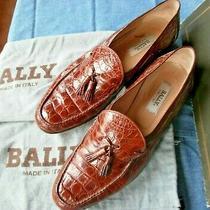 Bally Genuine Crocodile Italian Tasseled Loafers - 13m Vintage 1994 Photo