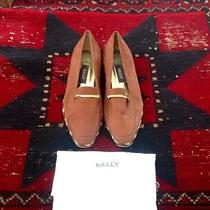 Bally Gold and Suede Loafers Photo