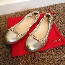 Bally Gold Ballerina Shoes Photo