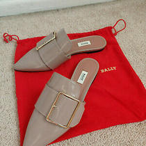 Bally Hamelin Beige Leather Flats Us Size 5 Eu 35.5 Made in Italy Photo