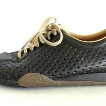 Bally Italy Ladies Perforated Athletic Running Tannis Shoes 6.5 B Black Tan  Photo