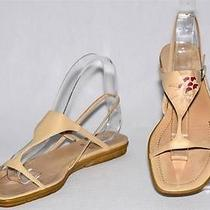 Bally Italy Patrai Sandals Beige Leather Sz 38.5 Photo